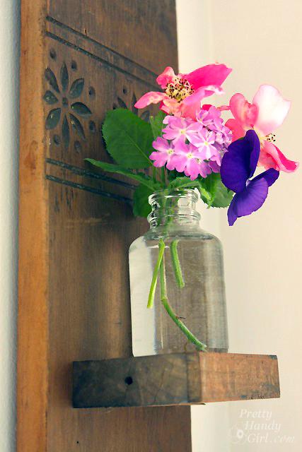 Vintage Coat Hook Wall Vase | Pretty Handy Girl Guest Post