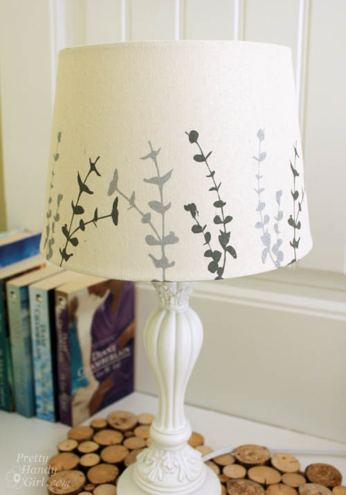 Painted Lampshade and Guest Room Makeover