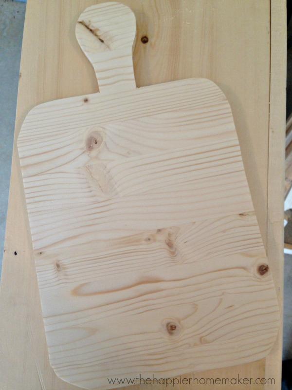Cut out cutting board jigsaw