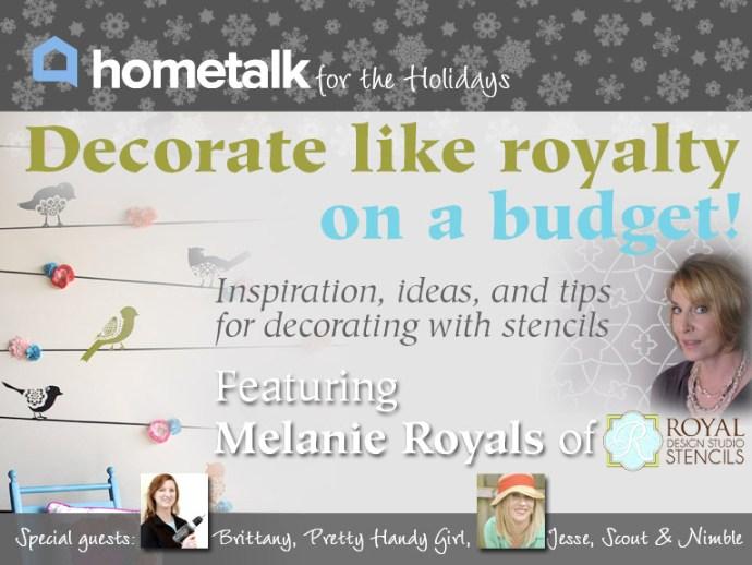 HomeTalk Stenciling Hangout