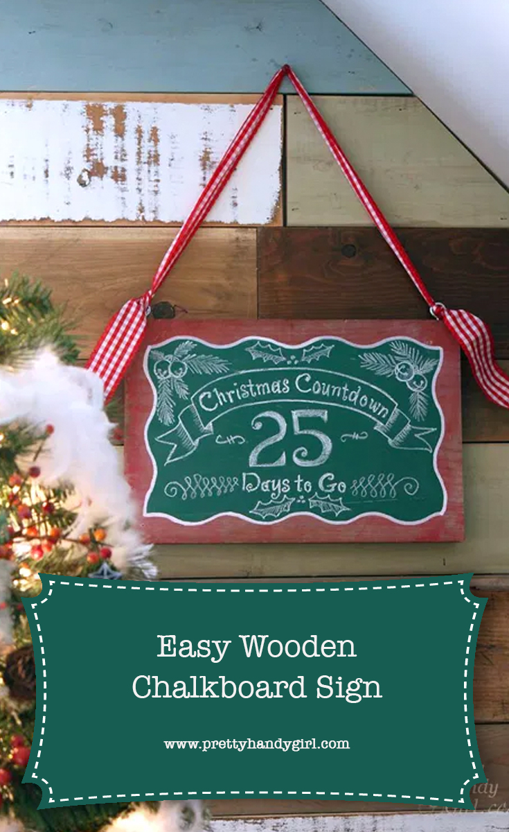 DIY Countdown to Christmas Sign | Pretty Handy Girl