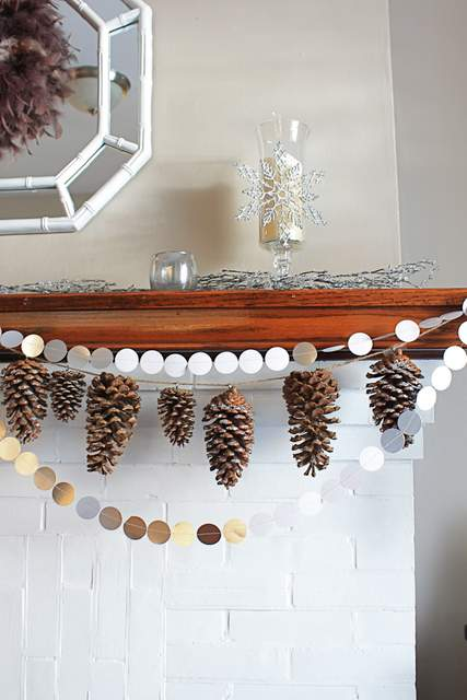 make a simple pinecone garland