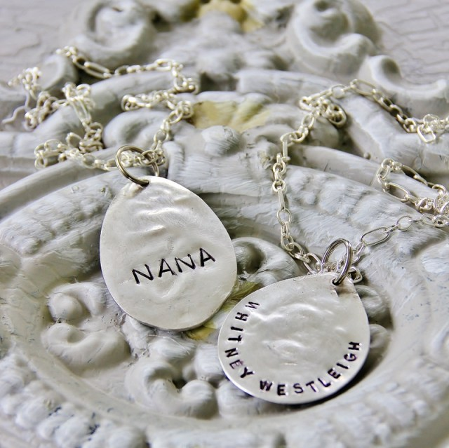 Stamped Spoon Necklace