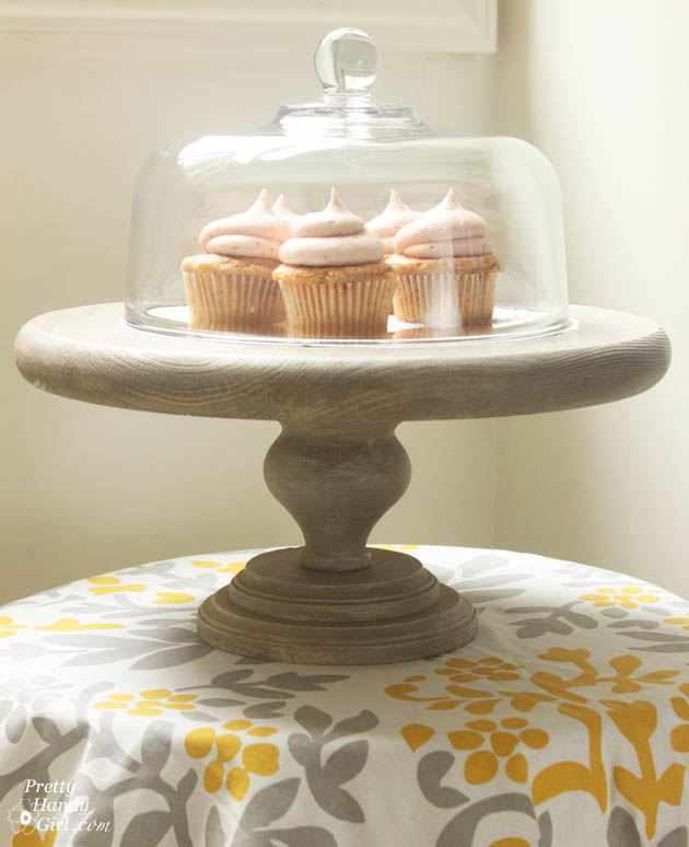 Hostess Gift Ideas - rustic cake stand