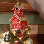 Painted Bird House Tree Topper