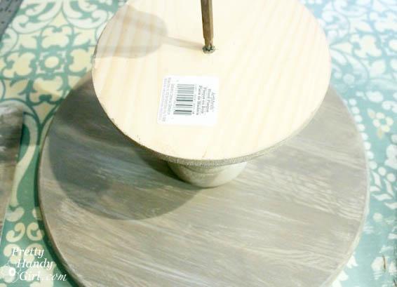 Rustic Wood Cake Stand | Pretty Handy Girl
