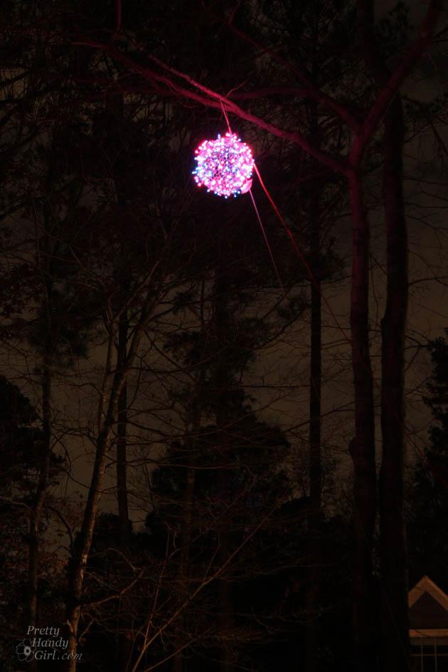 Giant Lighted Christmas Ball Tutorial | Pretty Handy Girl