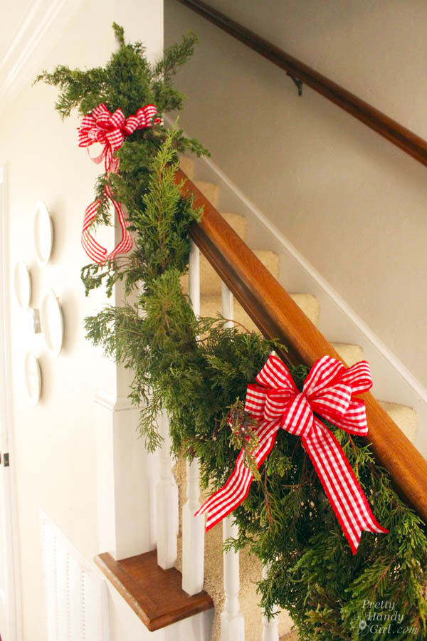 DIY Rosemary Wreath & Juniper Garland | Pretty Handy Girl