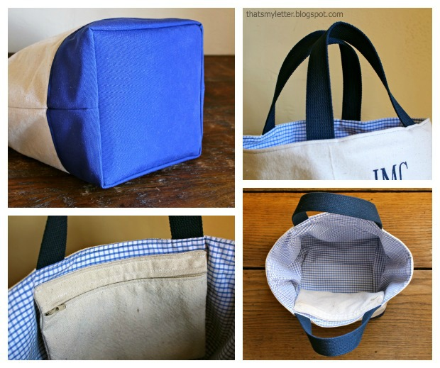 easy sewing projects to help you learn to sew - custom canvas tote using drop cloth canvas