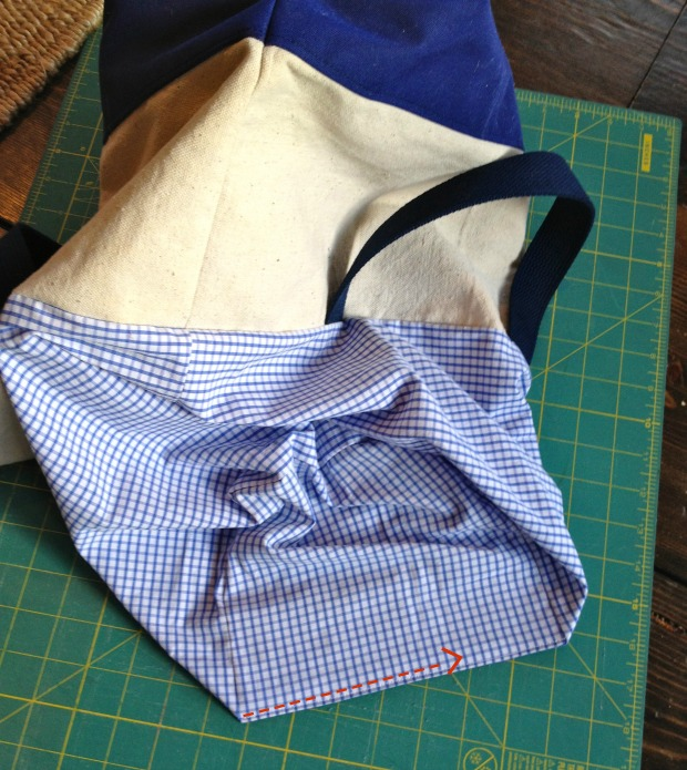 canvas tote lining closure
