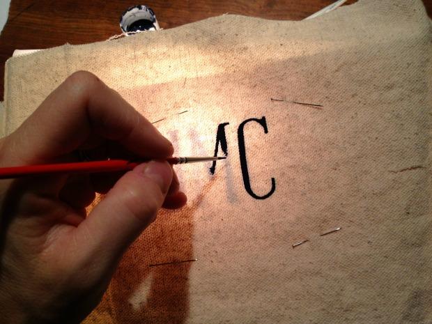 canvas tote monogram 1