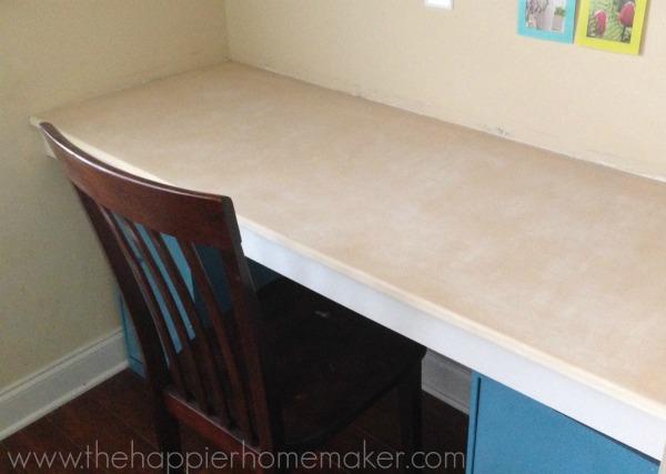 desk after stripping citristrip