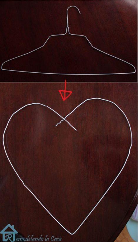hanger turned heart