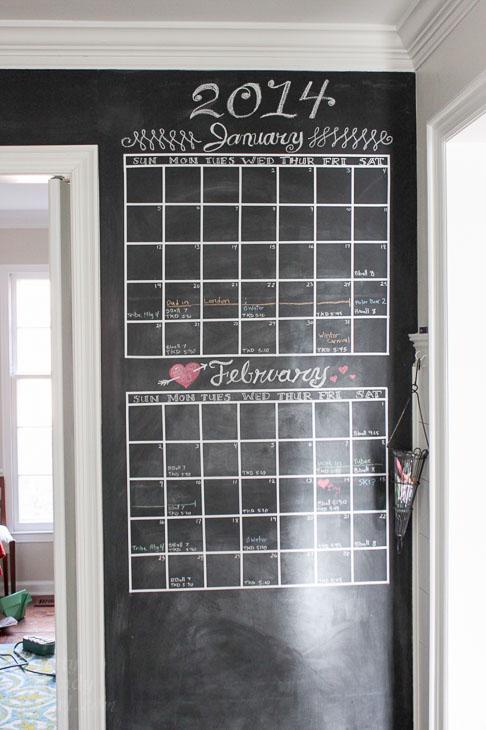 Diy Chalkboard Wall Calendar Pretty Handy Girl
