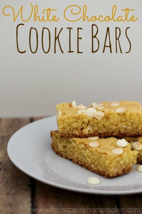White Chocolate Cookie bar recipe
