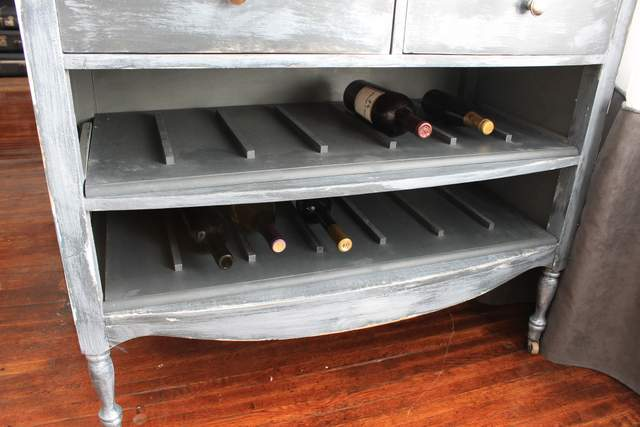 Dresser Turned Wine Rack