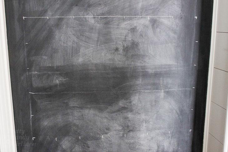 chalk grid lines created