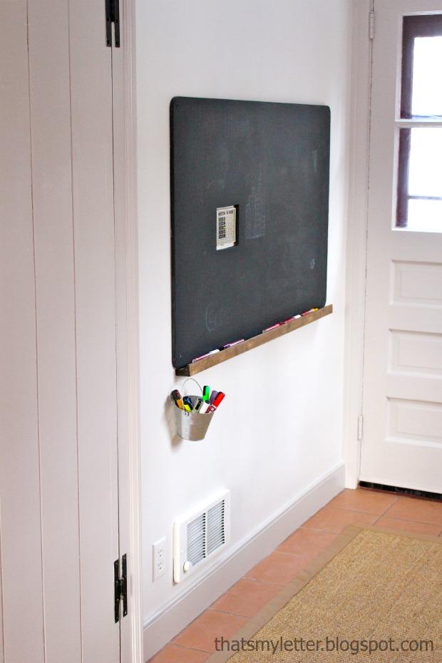 chalkboard paint project - chalkboard with ledge