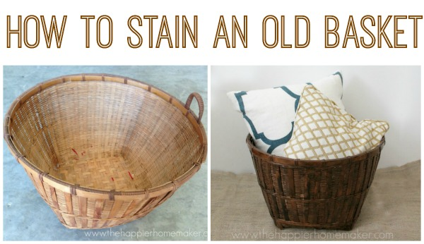 how to stain an old basket