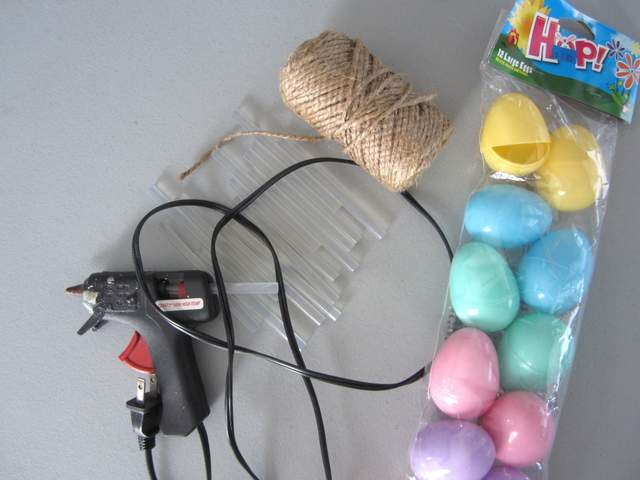 Materials for Jute Wrapped Eggs