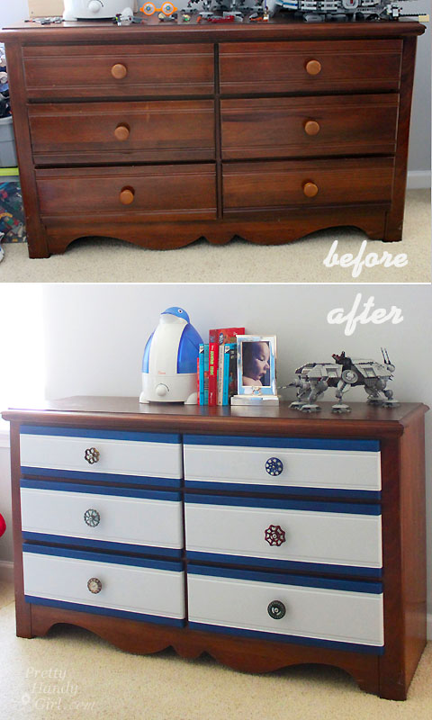 Easy Added Color to a Dresser | Pretty Handy Girl