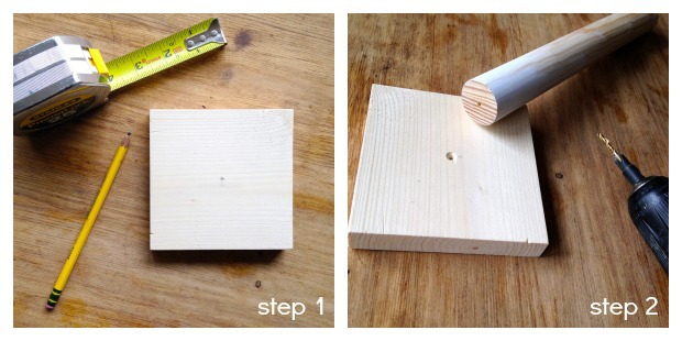 lollipop stand step 1 & 2