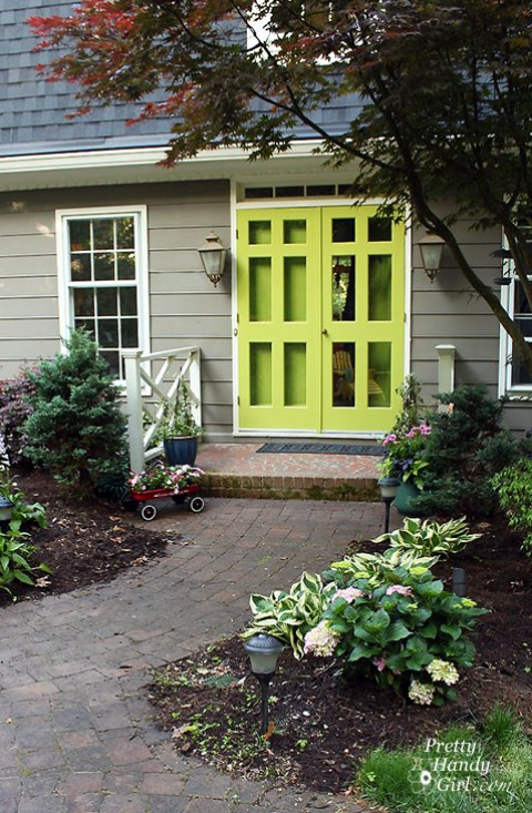 Stunning Green Doors - Pretty Handy Girl green door