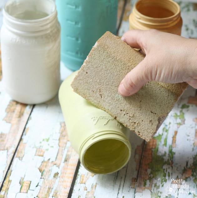Farmhouse Painted (chalk like paint) Jar Vases | Pretty Handy Girl