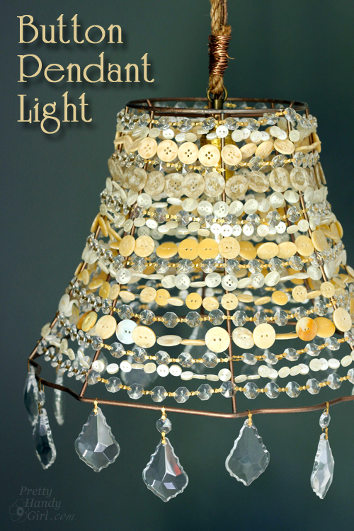 Diy Button Pendant Light Lowescreator Idea Pretty