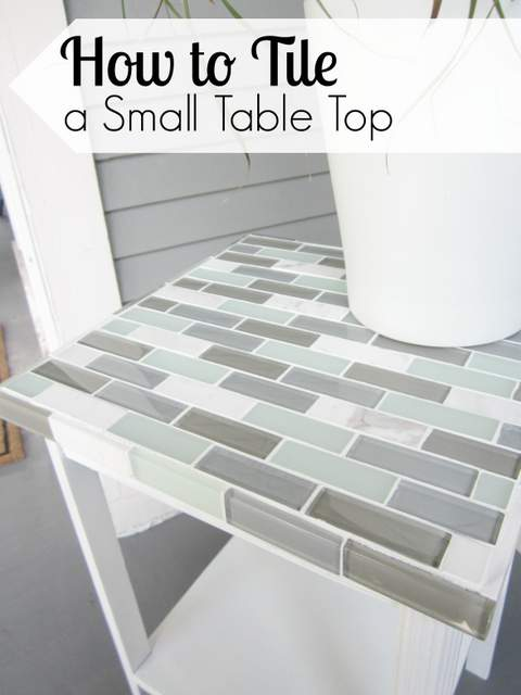 How To Tile A Small Table Top - How To Replace Glass Patio Tabletop With Tile