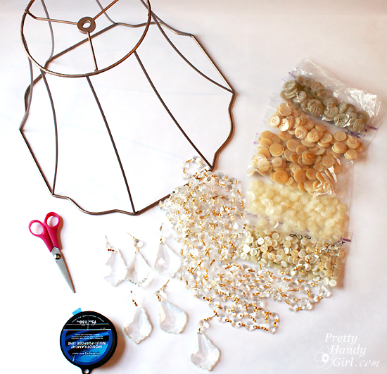 DIY Button Pendant Light |Pretty Handy Girl