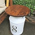 Repurposed Vintage Milk Jug Side Tables