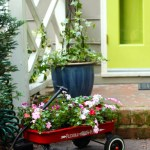 3 Step Little Red Wagon Planter