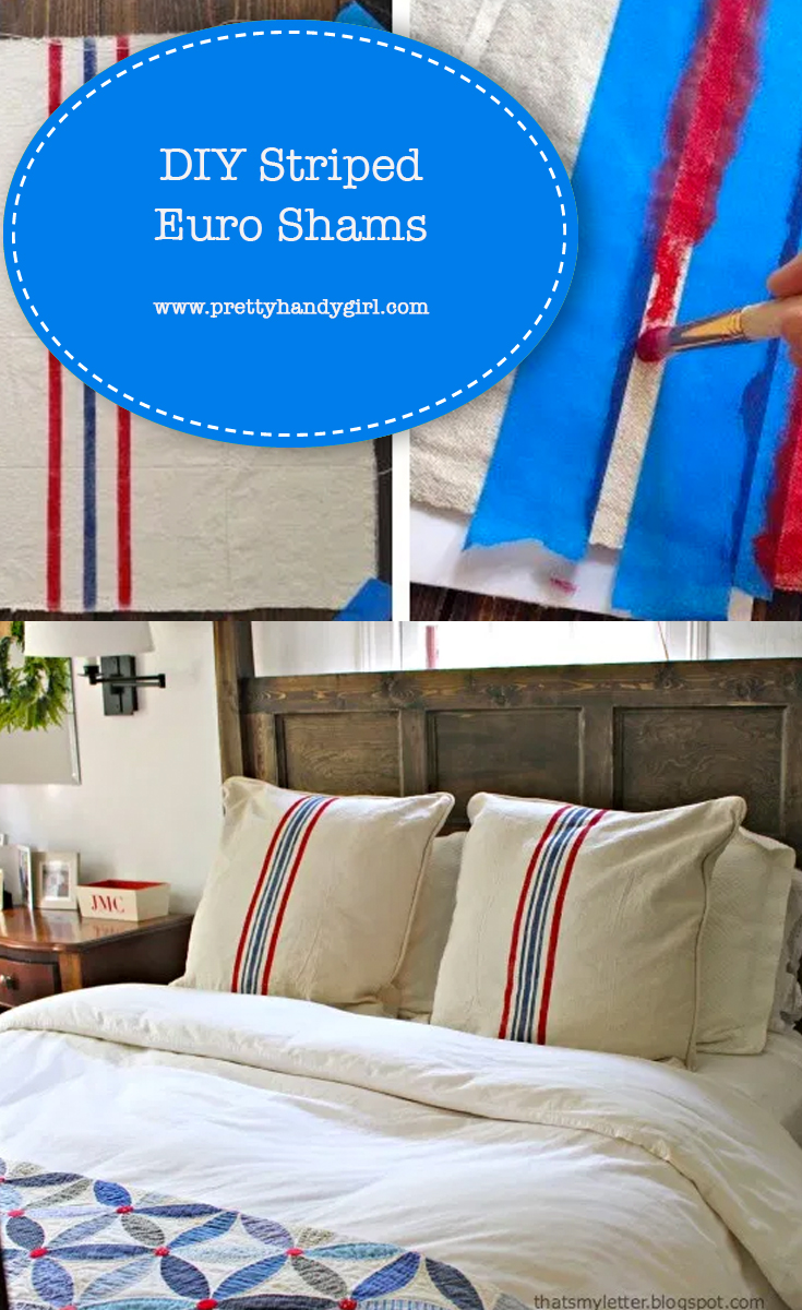 DIY Striped Euro Shams