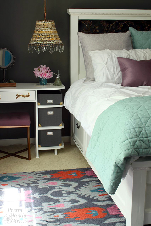 Painted Bedside Vanity | Pretty Handy Girl