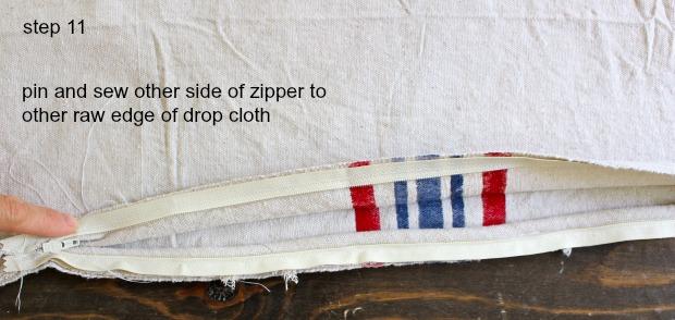 striped euro shams step 11