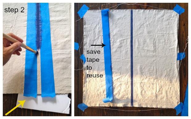 striped euro shams step 2