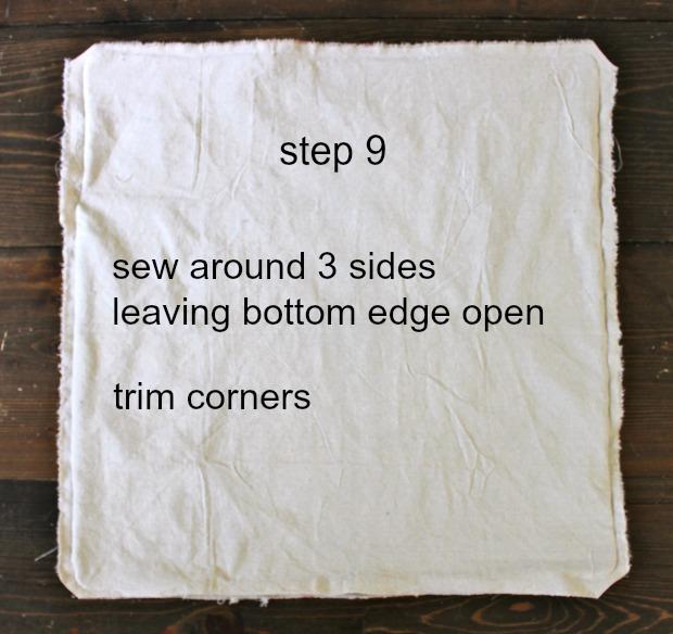 striped euro shams step 9