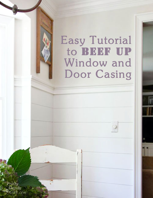 Beef Up Door and Window Casing with Back Band | Pretty Handy Girl