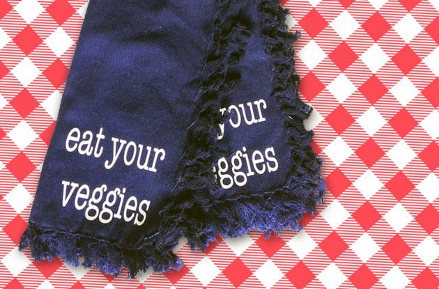 Hostess Gift Ideas - Eat Your Veggies Cloth Napkin Gift Set