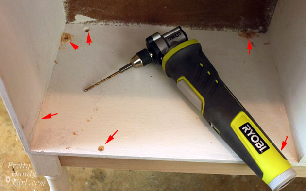 drill holes to attach table skirt