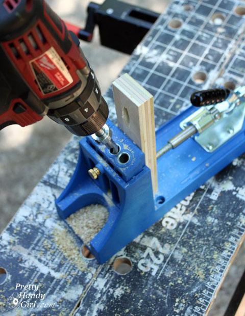 using kreg jig to drill pocket holes