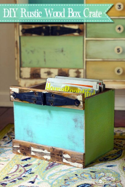 How to Build Custom Rustic Box Crates | Pretty Handy Girl