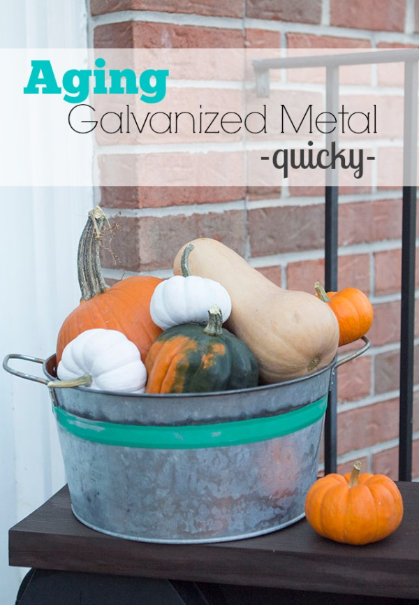 galvanized metal bucket aging