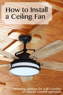 How to Install a Ceiling Fan   Pretty Handy Girl How to Install a Ceiling Fan   Pretty Handy Girl