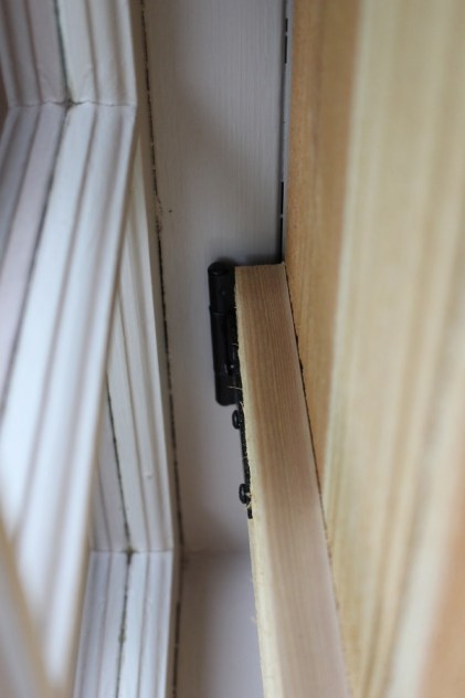 interior cedar shutters closed