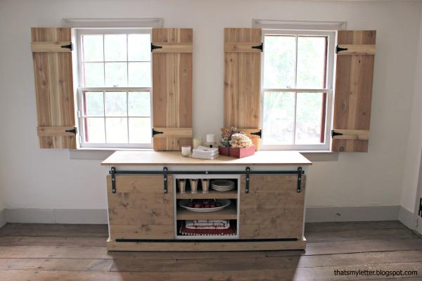 interior cedar shutters front view