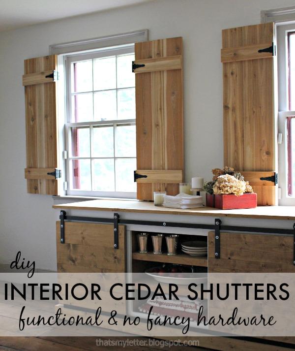 interior cedar shutters