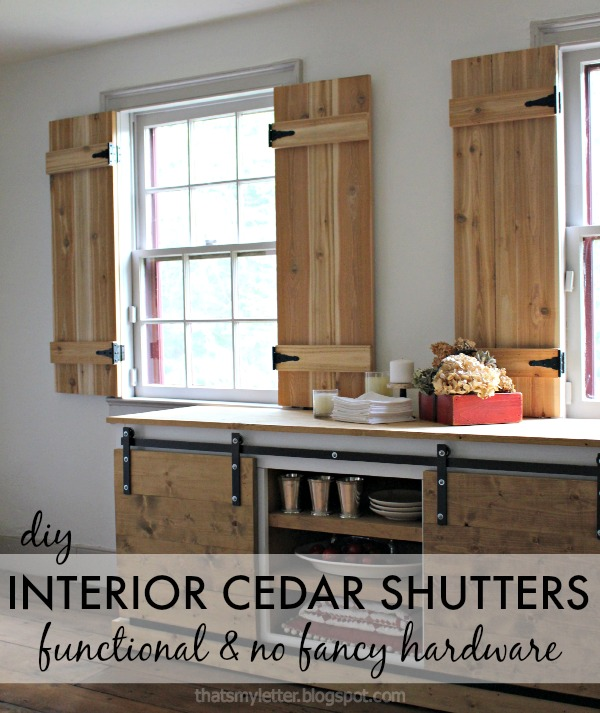 Charmant Interior Cedar Shutters