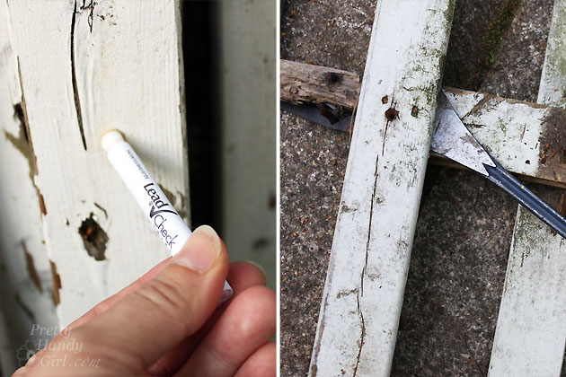 Lead check picket fence paint